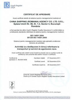 ISO 14001ro
